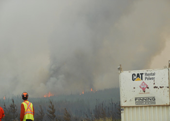 Fire crew staring at fire horizon employment