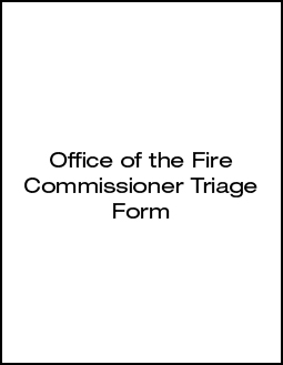 Office of the fire commissioner triage form