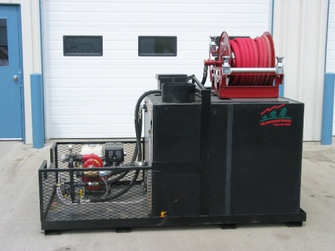 slip on skid unit side view