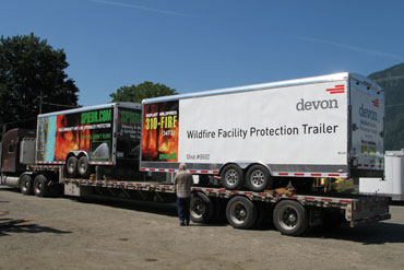Sprinkler Structure Protection Trailer
