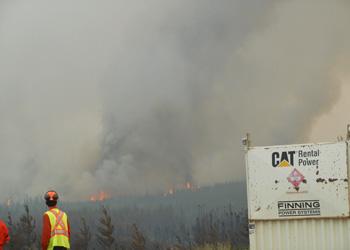 Fire crew staring at fire horizon employment