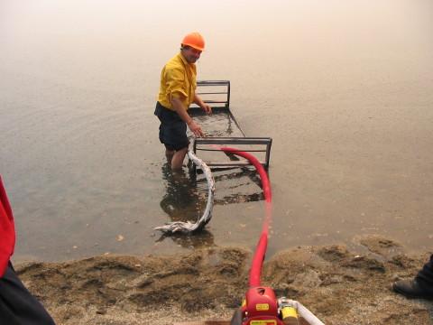 Firestorm Team Setting Up Hose