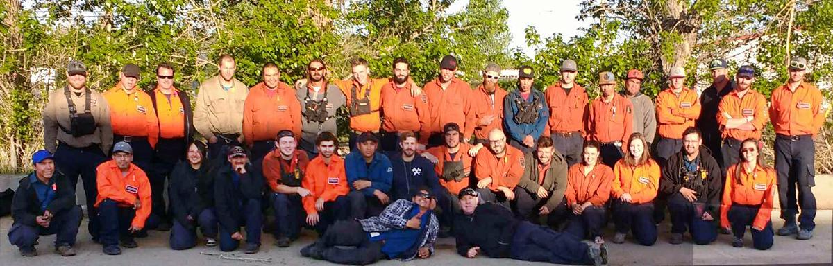 Firestorm team posing for photo