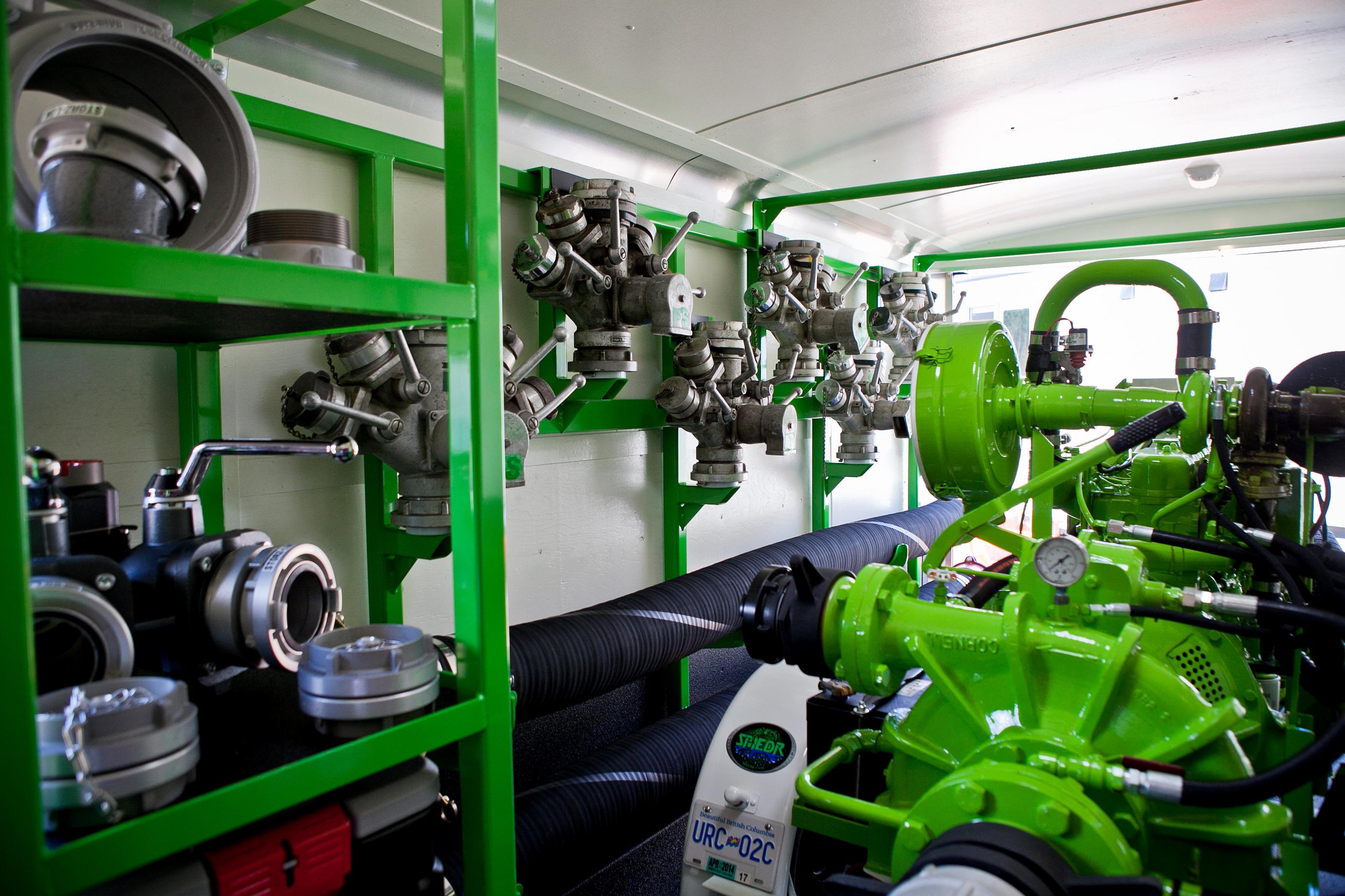 Inside of a SPIEDR trailer