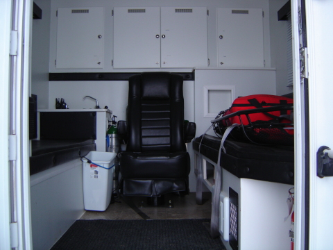 mobile treatment center inside view