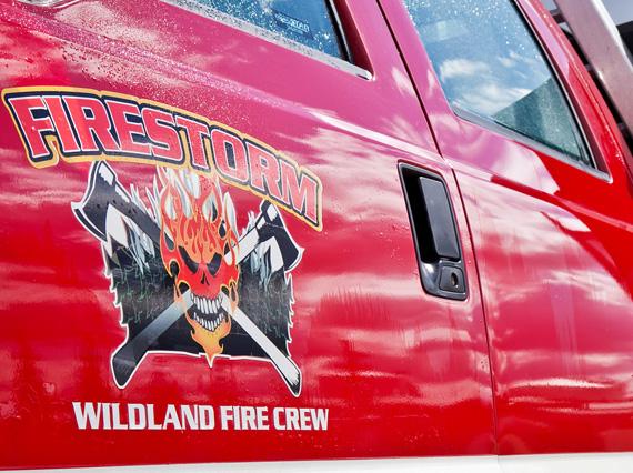 Firestorm logo on truck