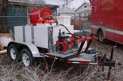slip on skid unit on trailer