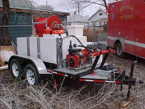 slip on skid unit on trailer
